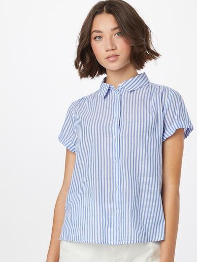 STREET ONE Bluse in royalblau / weiß, Modelansicht