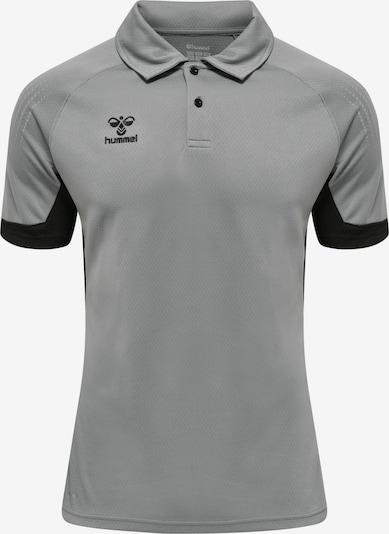 Hummel Functioneel shirt in de kleur Grijs / Zwart, Productweergave