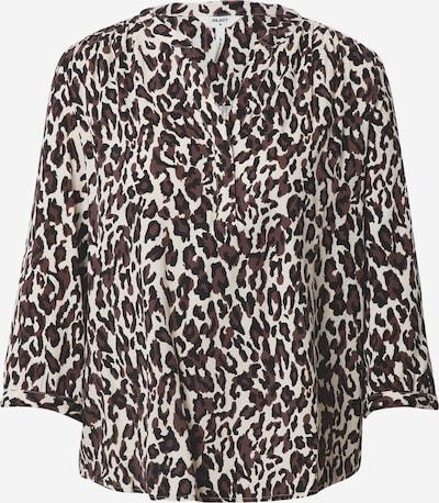 OBJECT Bluse 'Baya' in creme / braun / schwarz, Produktansicht