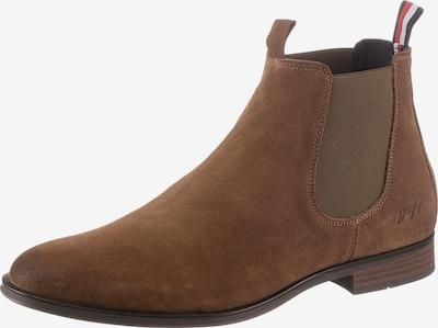 TOMMY HILFIGER Chelsea Boots in dunkelblau / cognac / rot / weiß, Produktansicht