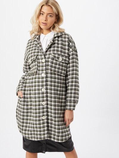 Karo Kauer Prijelazni kaput 'Willow' u siva / tamo siva / bijela, Prikaz modela