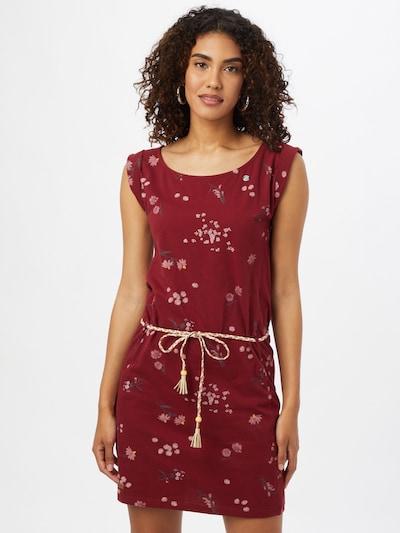 Ragwear Kleid 'Tamy' in gelb / tanne / rosa / kirschrot, Modelansicht