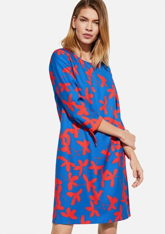 COMMA Kleid in blau / rot, Modelansicht