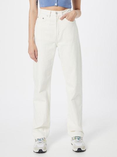 WEEKDAY Jeans 'Rowe Echo' in white denim, Modelansicht