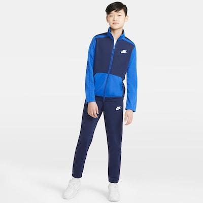 Nike Sportswear Jogginganzug in blau / marine: Frontalansicht