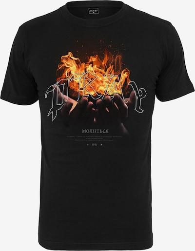 Tricou 'Pray On Fire' Mister Tee pe portocaliu / negru / alb, Vizualizare produs