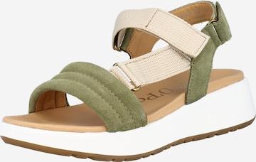Sandale de la Marc O'Polo pe verde