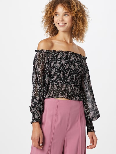 SISTERS POINT Bluse 'NEA-9' in mint / lavendel / rosa / schwarz, Modelansicht
