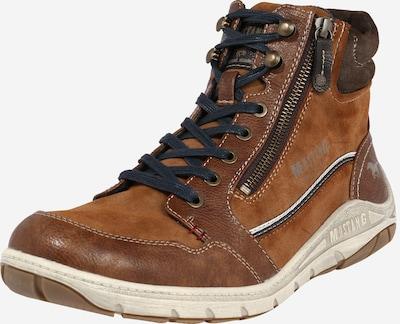 MUSTANG Sneaker in kastanienbraun / cognac, Produktansicht