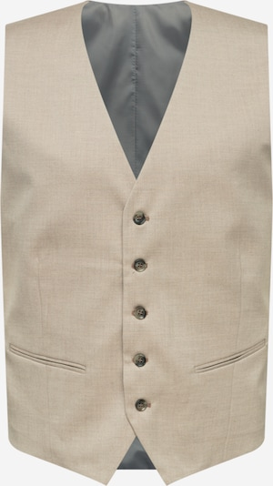 SELECTED HOMME Uzvalka veste, krāsa - smilškrāsas / pelēks, Preces skats