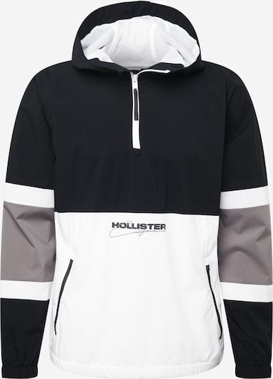 HOLLISTER Tussenjas in de kleur Lichtgrijs / Zwart / Wit, Productweergave