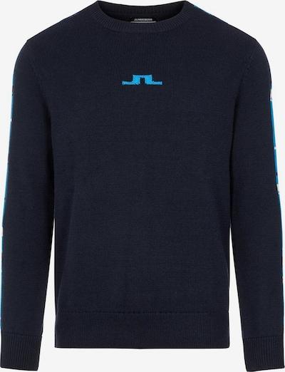 J.Lindeberg Sporttrui 'Luke' in de kleur Navy / Turquoise / Wit, Productweergave