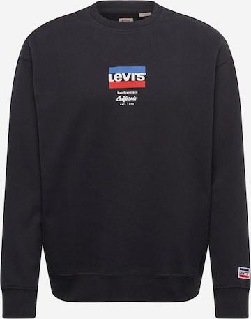 Bluză de molton de la LEVI'S pe negru