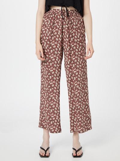 ABOUT YOU Hose 'Mina' in mischfarben / rot, Modelansicht