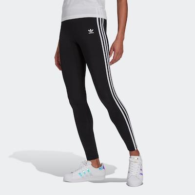 Leggings ADIDAS ORIGINALS pe negru / alb, Vizualizare model