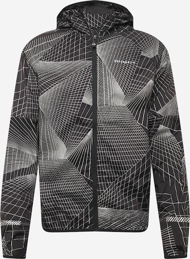 Superdry Спортно яке в черно / бяло, Преглед на продукта