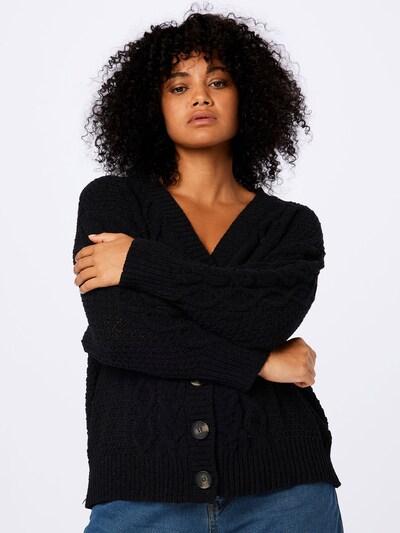 Cotton On Curve Strickjacke 'CHENILLE' in schwarz, Modelansicht