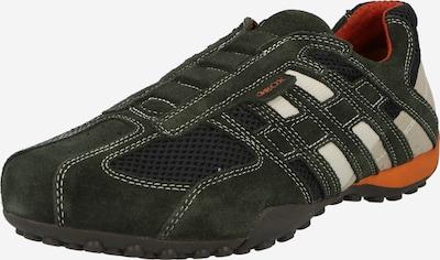 GEOX Platform trainers in Night blue / Grey / Basalt grey / White: Frontal view
