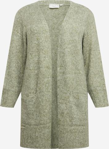 KAFFE CURVE Плетена жилетка 'Alicia' в зелено