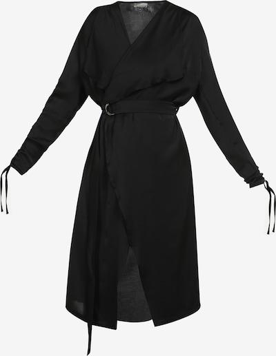 DreiMaster Vintage Mantel in schwarz: Frontalansicht