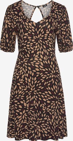 LASCANA Kleid in beige / braun / dunkelbraun, Produktansicht