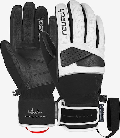 REUSCH Fingerhandschuhe 'Mikaela Shiffrin R-TEX® XT' in schwarz / weiß, Produktansicht