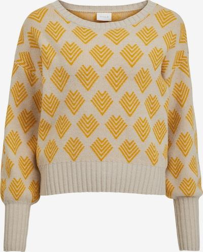 VILA Pullover 'Ceisa' in kitt / goldgelb, Produktansicht
