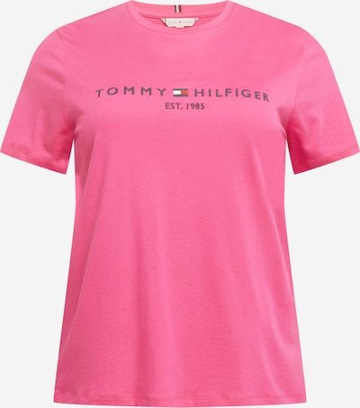 Tommy Hilfiger Curve T-Shirt in dunkelpink / schwarz, Produktansicht