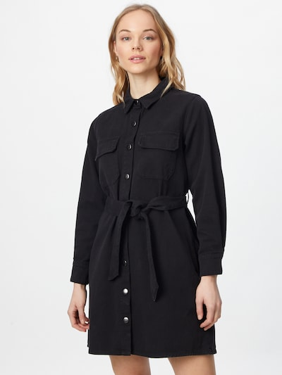 ABOUT YOU Kleid 'Nicky Denim Dress' in black denim, Modelansicht
