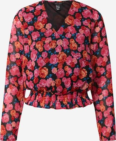 NEW LOOK Blouse in de kleur Sinaasappel / Pink / Zwart, Productweergave