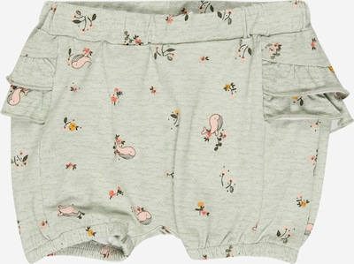 NAME IT Pantalon 'Feline' en vert pastel / rose, Vue avec produit