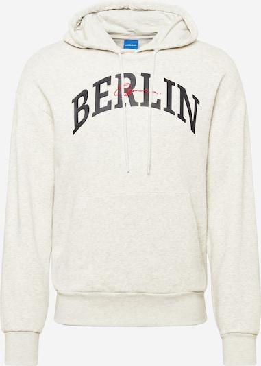 JACK & JONES Sportisks džemperis 'Jorhipe', krāsa - gaiši pelēks / sarkans / melns, Preces skats