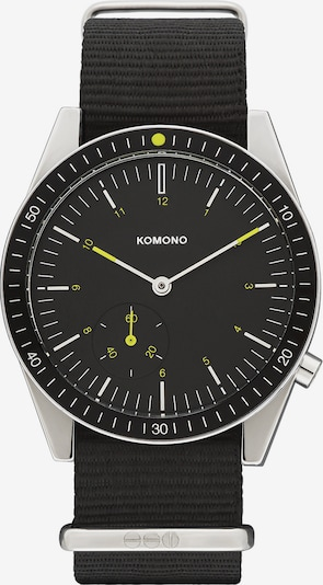 Komono Uhr in gelb / schwarz / silber, Produktansicht
