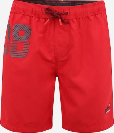 Superdry Kupaće hlače u bazalt siva / crvena / crna / bijela, Pregled proizvoda