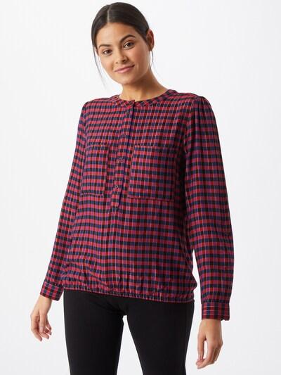 STREET ONE Bluse in navy / dunkelpink / rot / schwarz, Modelansicht