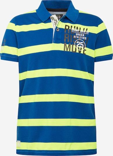 CAMP DAVID Shirt in royalblau / neongelb, Produktansicht