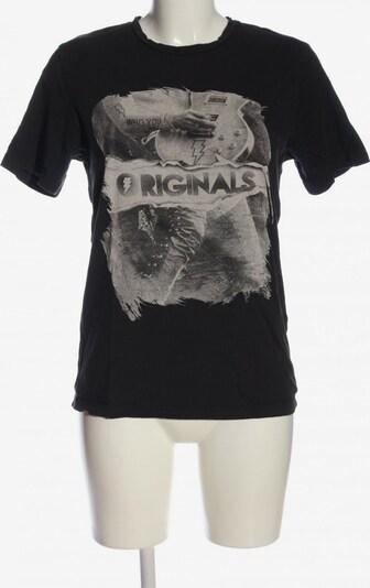 JACK & JONES T-Shirt in S in hellgrau / schwarz, Produktansicht