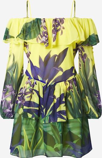 GUESS Рокля в жълто / тъмнозелено / лилав, Преглед на продукта