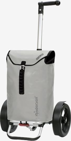 Andersen Shopper Einkaufstrolley in hellgrau / schwarz, Produktansicht
