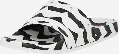ADIDAS ORIGINALS Pantolette in schwarz / weiß: Frontalansicht