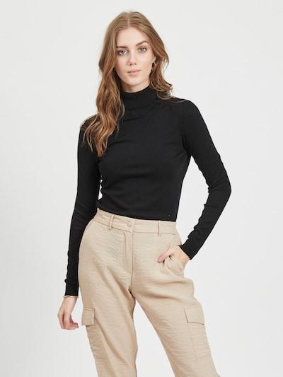 VILA Sweter 'BOLONIA' w kolorze czarnym, Podgląd na modelu(-ce)