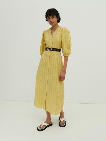 EDITED Shirt Dress 'Elena' in Yellow