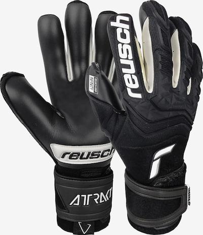 REUSCH Sporthandschuhe in schwarz / weiß, Produktansicht