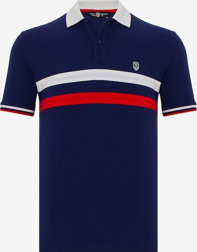 Jimmy Sanders Kurzarm Shirt mit gestreiftem Muster in navy, Produktansicht
