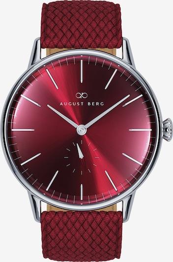 August Berg Uhr 'Serenity Burgundy Silver Eye Burgundy Perlon 40mm' in rot / bordeaux / burgunder, Produktansicht