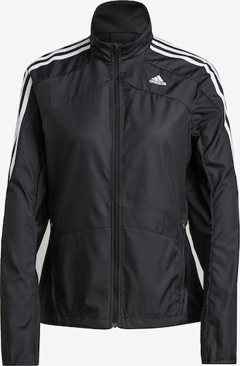 ADIDAS PERFORMANCE Sportjas 'Marathon' in de kleur Zwart / Wit, Productweergave