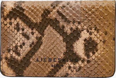 Liebeskind Berlin Portemonnee 'Cardie' in de kleur Chocoladebruin / Cognac / Lichtbruin, Productweergave