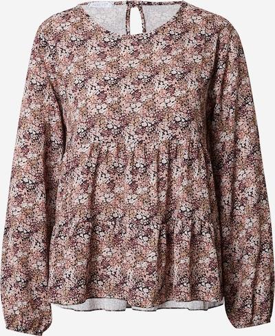 Hailys Bluse 'Mana' in braun / rosa / rosé / schwarz / weiß, Produktansicht