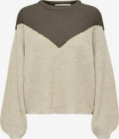 ONLY Pullover in beige / grün, Produktansicht