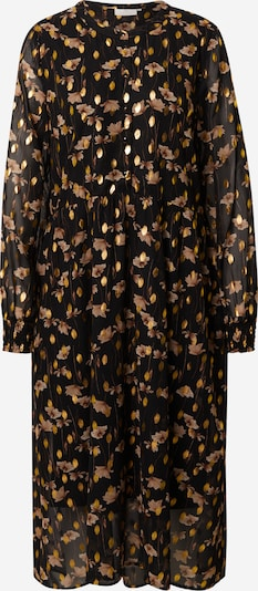 Kaffe Dress 'Florala' in Dark brown / yellow gold / Powder / Black, Item view